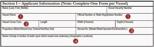 Section I Sea Service Form